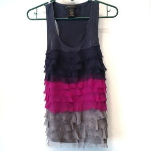 MM Couture by MISS ME Tiered Ruffled Tank Top S